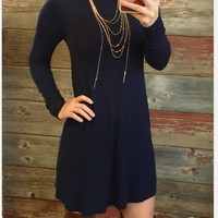 More than You Know Dress: Navy