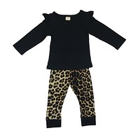 baby girl clothes newborn cotton baby clothing long sleeve t-shirt pants infant 2PCS sets cute kids clothes