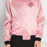 Opening Ceremony - Cash reversible embroidered silk-satin jacket