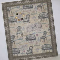 Victorian Vintage Ornate Distressed Framed Magnetic Memo Board
