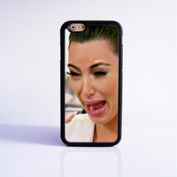 Funny Kim Kardashian Crying  Rubber Case Cover for Apple iPhone 4 4s 5 SE 5s 5c 6 6s Plus