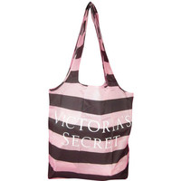 Victoria's Secret Black & Pink Signature Nylon Shopping Tote