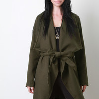 Large Collar Fleece Coat