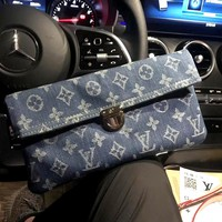LV tide brand female denim canvas shoulder bag