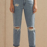 PacSun Naomi Mom Jeans at PacSun.com - medium indigo | PacSun