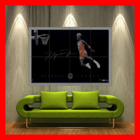 Michael Jordan Dunk huge jump  Poster print art 23 by RomiPosters