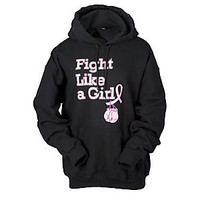 Fight Like a Girl Adult Hooded Sweatshirts - Black | Scheels