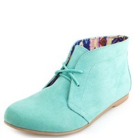 SUEDED LACE-UP ANKLE BOOTIE