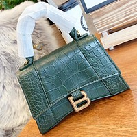 Hipgirls Balenciaga Fashion new leather shoulder bag crossbody bag women handbag Green