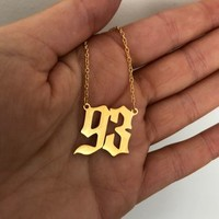 Birth Date necklace