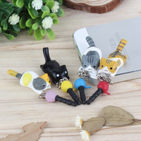 Cute puppy 3.5mm universal dust Plug Earphone Jack Plug Headset Stopper Cap