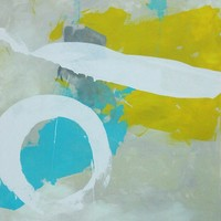 """Nick Brock Antiques - Current Inventory: """"Zero Sum"""" abstract painting by Paul Ashby 2012"""