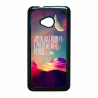 Perks Of A Wall Flower Quote Design Vintage Retro HTC One M7 Case