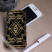 The Great Gatsby Logo Gold Design for iPhone 4/4s, iPhone 5, 5s, 5c, Samsung Galaxy S3, S4 Case