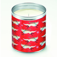 Johanna Parker Leaping White Foxes Candle