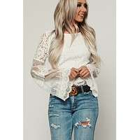 Finding Love Lace Top (Ivory)