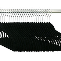 Flock Hangers, Black, Set of 50, Hangers