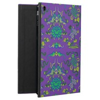 Flowers and Shapes on Purple Cover For iPad Air
