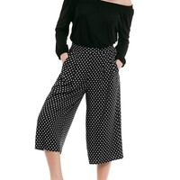 Cropped Soft Wide Leg Pants
