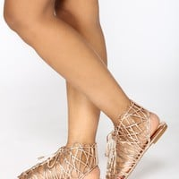 Hot Stepper Sandals - Rose Gold