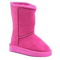 Girls Betty-01 Classic Slip On Fur Lined Fashion Winter Boots