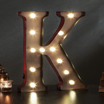 Apothecary ''K'' LED Marquee Sign Decor