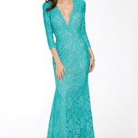 Jovani 20025 Long Sleeve Lace Prom Dress Evening Gown