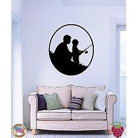 Wall Stickers Vinyl Decal Fishing Son And Father Family  Cool Decor  Unique Gift (z1588)
