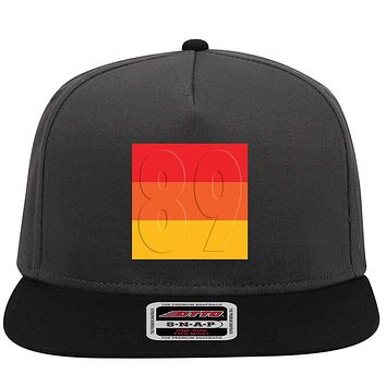 Customize Emboss Effects Birth Year Retro Vintage 5 Panel Mid Profile Snapback Hat - For Men and Women