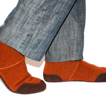 Mens Wool Slippers, Men Cashmere Shoes