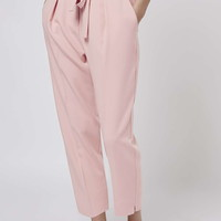 PETITE Peg Belted Trousers - Topshop