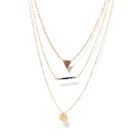 Multi Layered Gold Charm Necklace