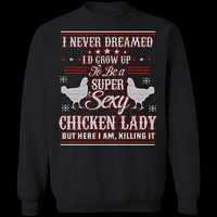 Sexy Chicken Lady Ugly Christmas Sweater