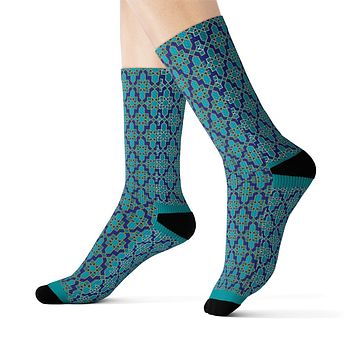 Maccy African Inspired Unisex African Print Socks