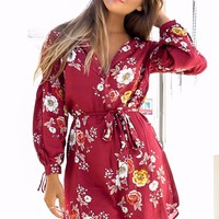 Can't Handle It Burgundy Button Up Dress