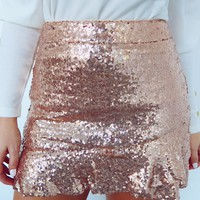 Let Your Light Shine Skirt: Rose Gold