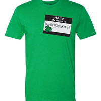 Hello my name is Drunky McDrunkerton funny Irish Paddys Day Tshirt