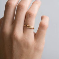 Personalized Letter Ring • Gold Dainty Bar Ring • Custom Initials Ring • Hand-Stamped HUG RING • Sterling / 14K Gold Fill / Rose Gold, LR452