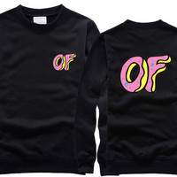 Odd Future OF Donut Black Sweatshirt