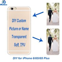 """DIY Soft TPU For Apple iPhone 6 / 6 Plus Transparent Shell 4.7 inch Phone Case 5.5"""" for iPhone 6S Plus Back Cover Custom Coque"""