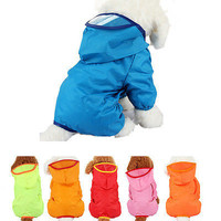 New Dog Clothes Pet Hoodie Rain Coat for Small Dogs Pet Jacket & Pocket HU