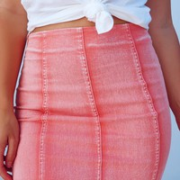 Make The Upgrade Skirt: Dusty Coral