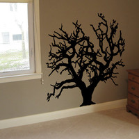 Tree Wall Decal - Winter - Tree Wall Decor Vinyl Decal Room Wall Decoration Removable