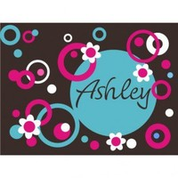 Alphabet Garden Designs Personalized Circles Dots and Flowers Wall Decal - child108 - All Wall Art - Wall Art & Coverings - Decor
