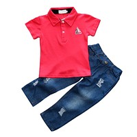 Baby Boy Clothing Set Children Clothing Infant Baby T-shirt Pants Kids Clothes