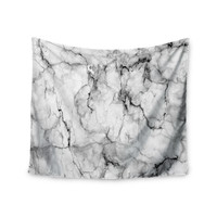 "Chelsea Victoria ""Marble No 2 "" Black Modern Wall Tapestry"