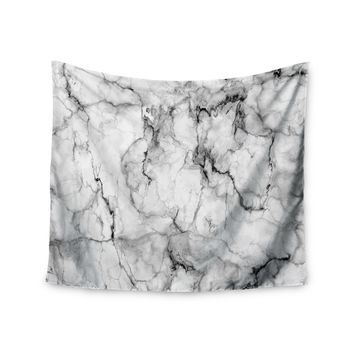 """Chelsea Victoria """"Marble No 2 """" Black Modern Wall Tapestry"""