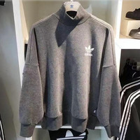 """Adidas"" Print Pullover Tops Sweater Sweatshirts"