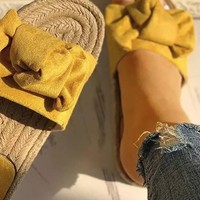 Mimi Slide Sandals in Mustard
