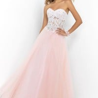 2015 Blush Corset Bodice Prom Dress 5428